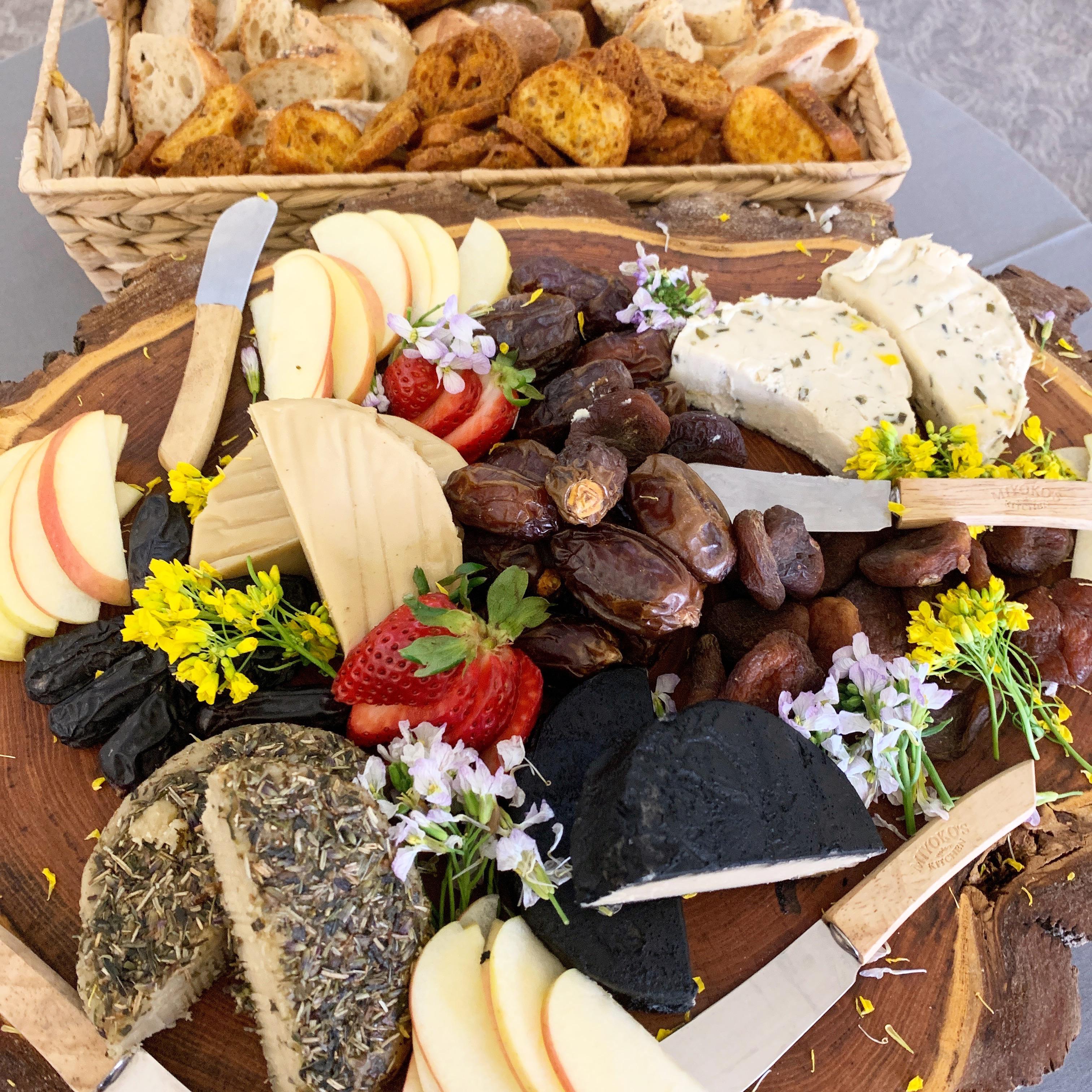 vegan spring cheese plate