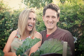 Kyle and Ashley Knies, husband and wife vegan catering team.