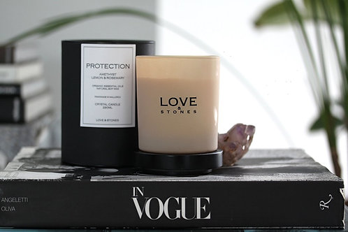 LOVE & STONES Organic Soy Candle PROTECTION