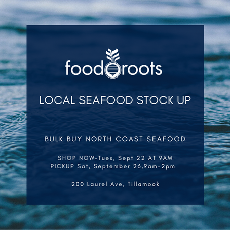 Announcing Our First Annual Local Seafood Stock Up Shopping Event!