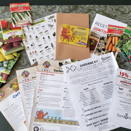 20000+ Seed Packets, and Other Recent Farm to School Activities