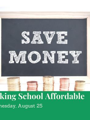 Making School Affordable!