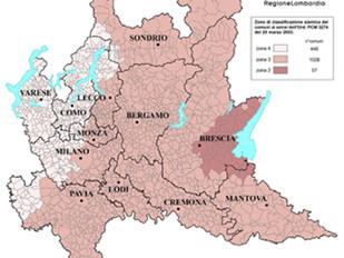 Nuova classificazione sismica Regione Lombardia