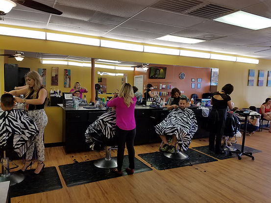 Picture of Hairstylists doing haircuts, hair color, highlights and lowlights