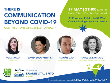 EUPHW | There is communication beyond COVID-19 | Contributions of science to health