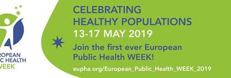 Faça parte da Semana Europeia da Saúde Pública - 13 a 17 de Maio de 2019