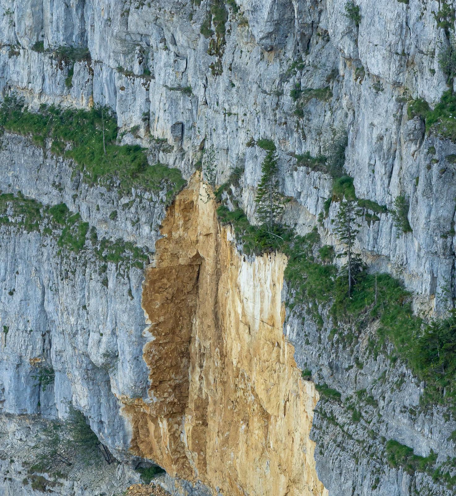 broken cliff