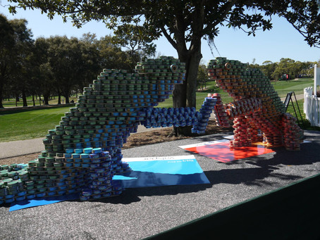 Chameleon Canstruction Continues at the 2016 Valspar Championship