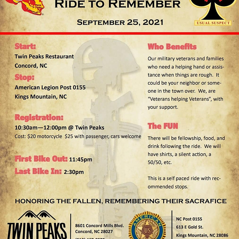 CVMA 15-2 Ride To Remember