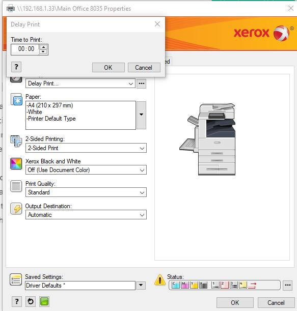 Xerox Delay Print