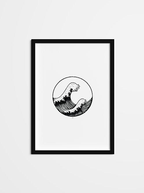 'Stippled Wave Print'