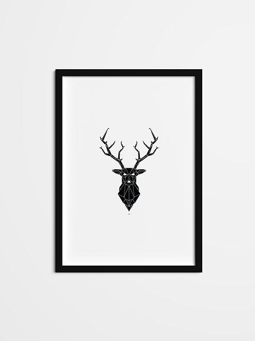 'Black Stag Print'