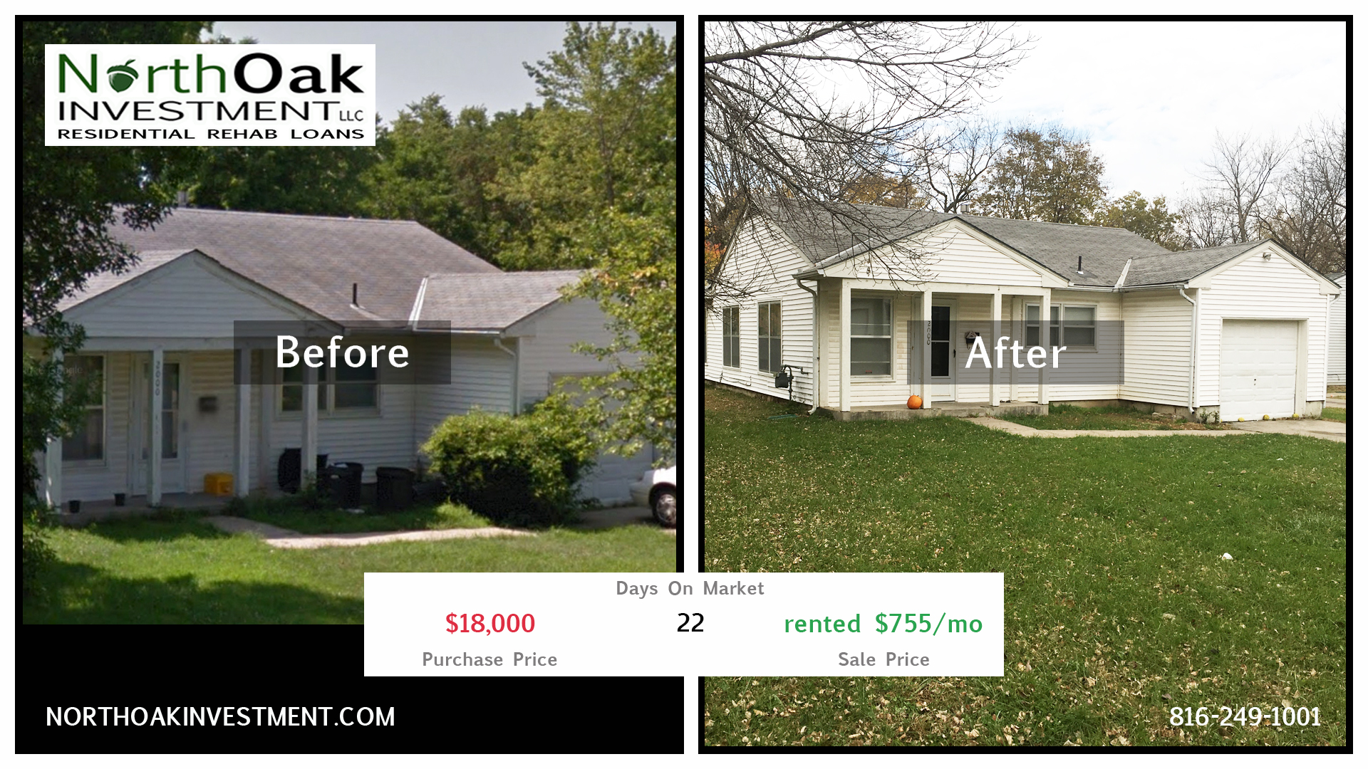 2000 North 15th - Report Card - North Oak Investment Rehab Lender Kansas City Flip Funding Construct