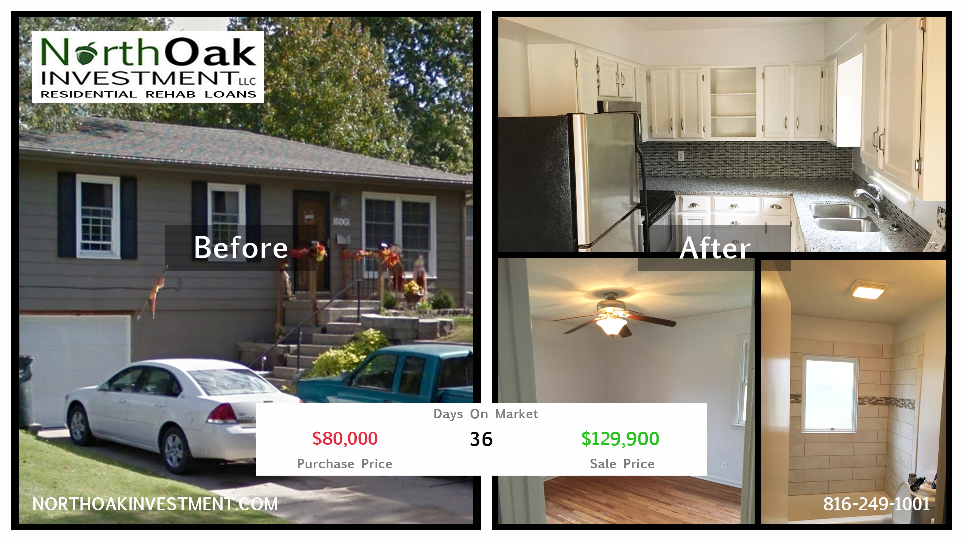 1606 NE 60th Terr - Report Card - North Oak Investment Rehab Lender Kansas City Flip Funding Constru