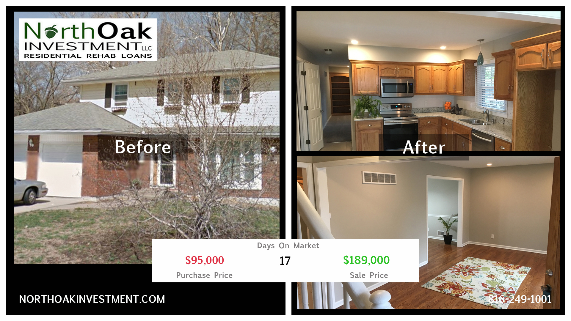 8700 E 89th - Report Card - North Oak Investment Rehab Lender Kansas City Flip Funding Construction