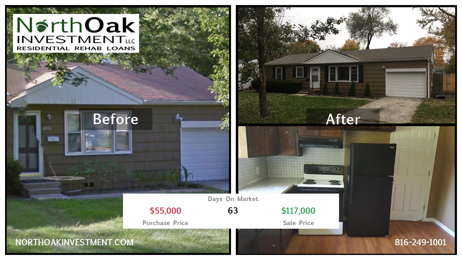 8916 E 74th - Report Card - North Oak Investment Rehab Lender Kansas City Flip Funding Construction