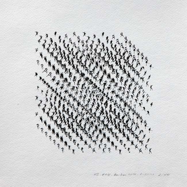 Kinematics of protest / Alphabet #2. 2014 / Limited Edition 2 of 10.