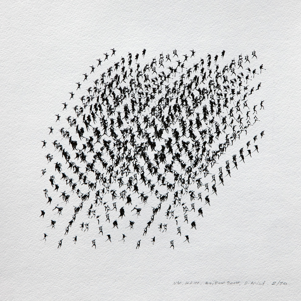 Kinematics of protest / Alphabet #4. 2014 / Limited Edition 2 of 10.