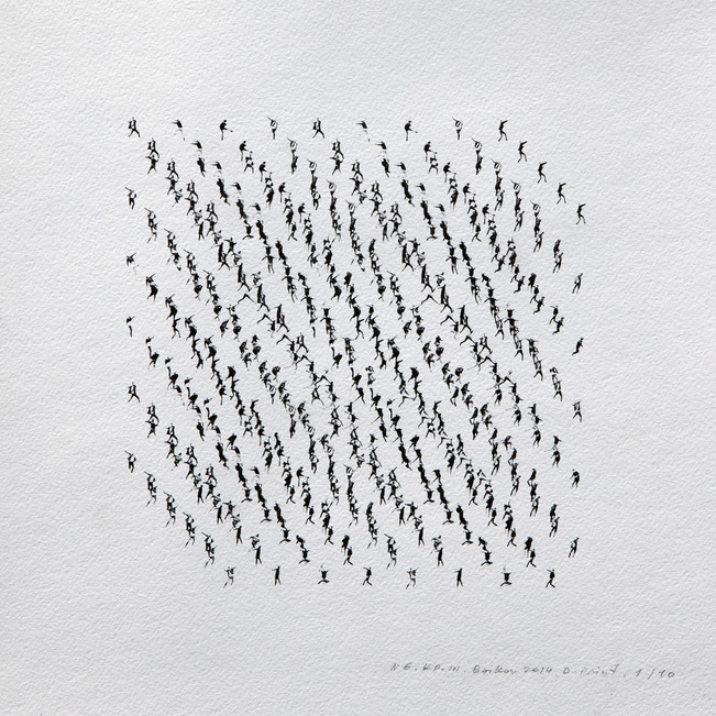 Kinematics of protest / Alphabet #6. 2014 / Limited Edition 2 of 10.