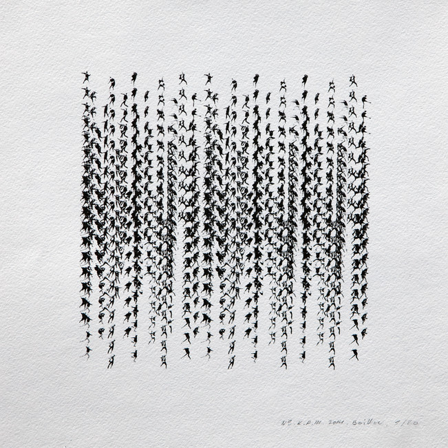 Kinematics of protest / Alphabet #3. 2014 / Limited Edition 2 of 10.