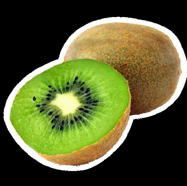 Geschnitten Kiwi