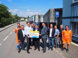 60 neue Stellplätze stehen ab sofort beim Bahnhof Weidling zur Verfügung