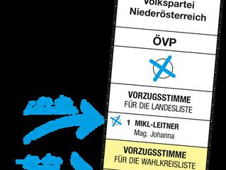Ihre Stimme für Johanna Mikl-Leiter & Christioph Kaufmann!