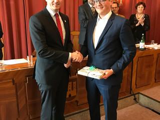 Angelobung Florian Havel als neuer Gemeinderat