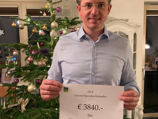 ÖVP Mandatare haben € 3.840,- an Spenden gesammelt