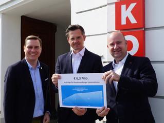 2018 Rekordsumme von 6,3 Mio Euro in Klosterneuburger Unternehmen investiert