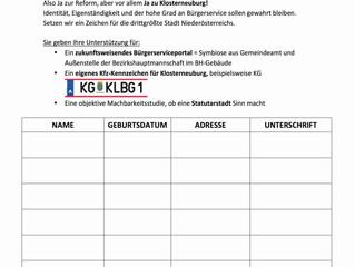 Erster Zwischenstand Unterschriftenaktion