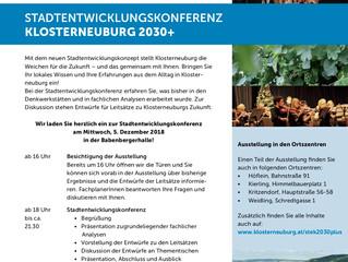 Bürgerbeteiligung Klosterneuburg: Einladung Stadtentwicklungskonferenz 5.12.