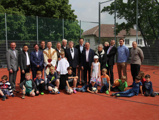 Eröffnung neuer Ballspielplatz im Sachsenviertel