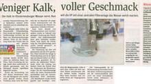 Weiches Wasser für Klosterneuburg