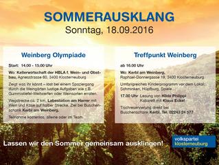 Veranstaltung Sommerausklang 2016
