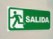 Señaletica, señales, señalización, señalización informativa, señal de emergencia, señales, impresion de señal de salida, marcacion de salidas