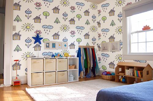 papel tapiz decorativo para niños