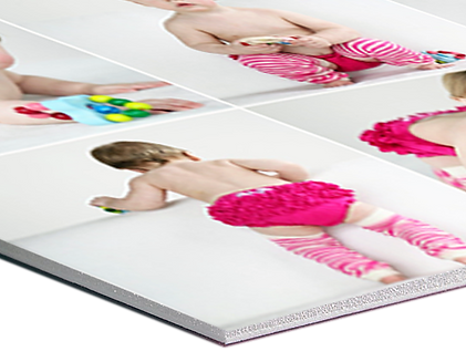vinilo adhesivo, papel fotográfico, foam board, poliestireno, acrílico, lamina en MDF, cartón doble pared,