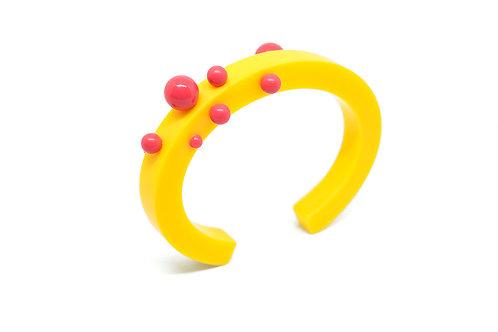Dot Bangle Yellow/Pink