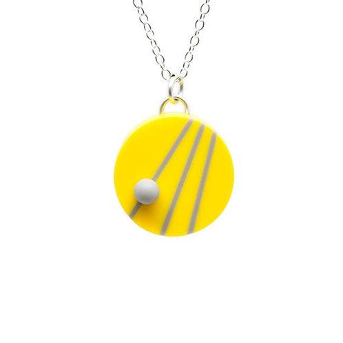 Dot Dash Pendant Yellow/Grey