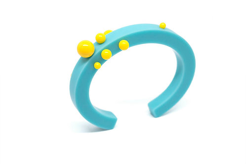 Dot Bangle Blue/Yellow