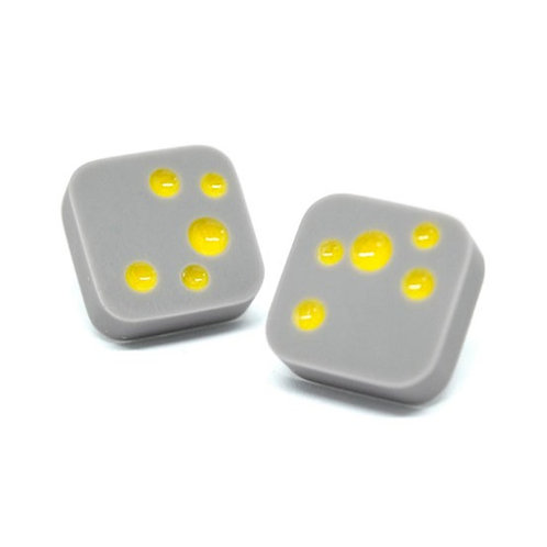 Dot studs Grey/Yellow