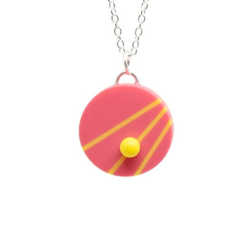 Dot Dash Pendant Pink/Yellow