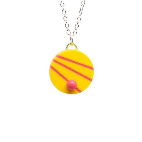 Dot Dash Pendant Yellow/Pink
