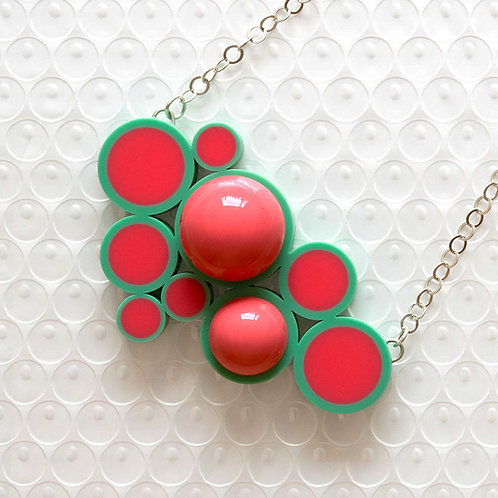 Push It Feel Good Necklace Teal/Pink