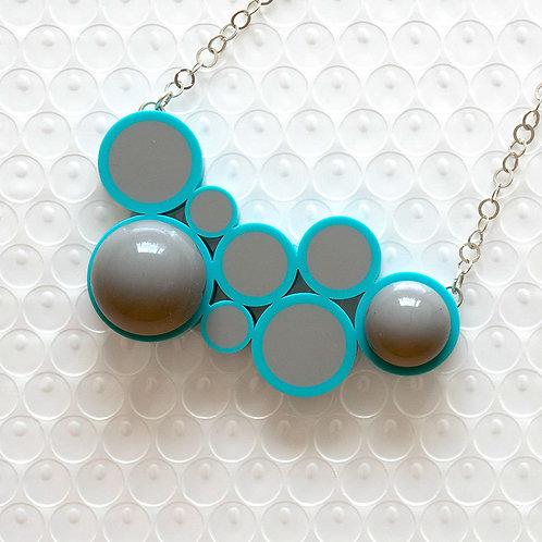 Push It Feel Good NecklaceBlue/Grey