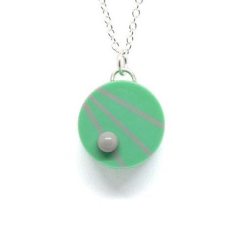 Dot Dash Pendant Teal/Grey