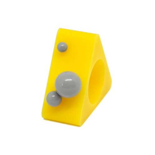 Dot Ring – Yellow/Grey Triangle