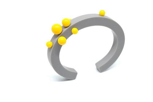Dot Bangle Grey/Yellow