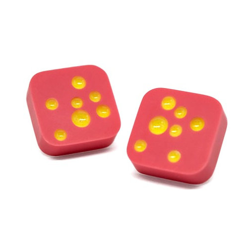 Dot Studs Pink/Yellow